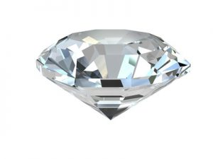 Diamond isolated on white background. High resolution 3D render
